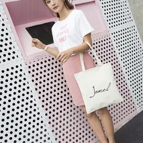 韩版帆布包单肩斜挎包 简约时尚 文艺 环保购物袋