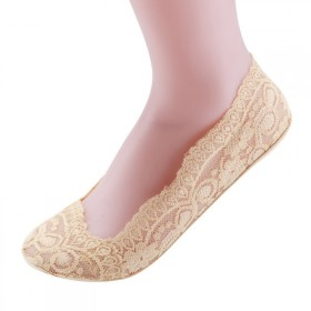 薄款蕾丝花边浅口隐形船袜女棉底吸汗硅胶防脱防滑短袜