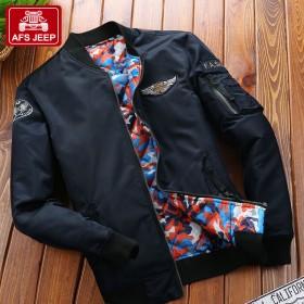 战地吉普飞行夹克男外套美国飞行员韩版棒球立领上衣