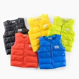 马甲背心男女中大小儿童秋冬款加绒轻薄保暖外套棉衣