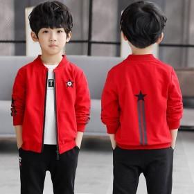 男童2018秋季季新款长袖短外套儿童学生夹克拉链衫