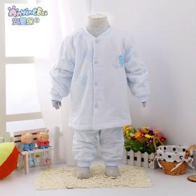 宝宝薄棉袄纯棉婴儿薄棉衣小童薄棉外套套装