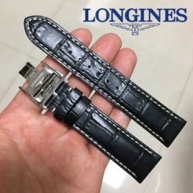 浪琴表带真皮男女L2L4名匠军旗典藏律手表带