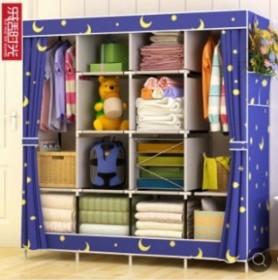 超大号简易衣柜家用布艺折叠布衣柜收纳组装衣橱