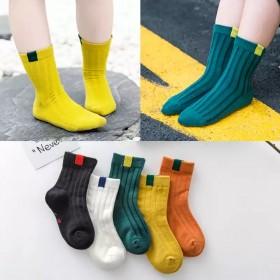 5双装 秋冬季儿童袜子宝宝小孩男童女童中筒袜男孩中