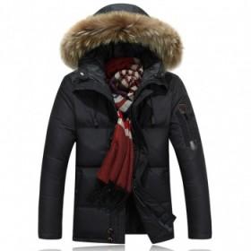 2018新款冬季羽绒服男士中长款加厚外套