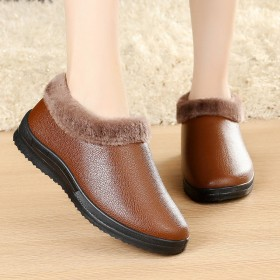 棉鞋女式家居妈妈鞋加绒加厚棉鞋防水防滑保暖雪地靴