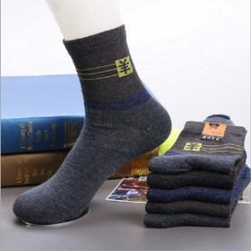 5双装 袜子男秋冬款中筒中厚舒适透气潮流男袜