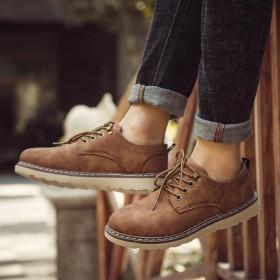 马丁靴男秋季复古工装鞋英伦低帮短靴潮流百搭韩版男鞋