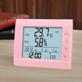 智能温度计舒适提醒闹钟送电池
