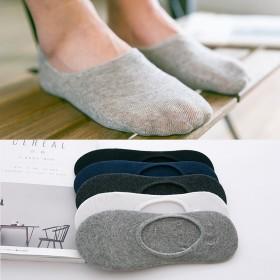 【5双装】纯棉袜子防臭吸汗船袜硅胶防滑【直供】