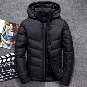 男士羽绒服韩版短款纯色户外冬装外套
