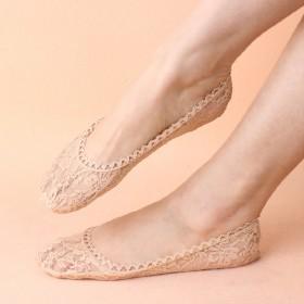 船袜女蕾丝隐形袜短袜纯棉冰丝浅口棉袜防滑夏季薄款袜