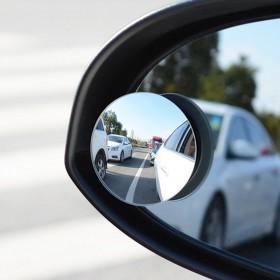 无边框小圆镜汽车盲点镜车载无死角高清玻璃倒车镜