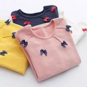 秋冬女童装新款打底衫中大童儿童圆领长袖T恤女孩套头