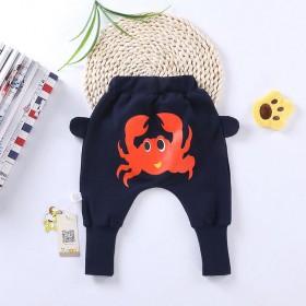 婴儿打底裤子春秋季儿童长裤中国风大PP裤男女哈伦裤