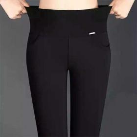 春秋款外穿高腰弹力加厚小脚铅笔裤休闲黑色长裤打底裤