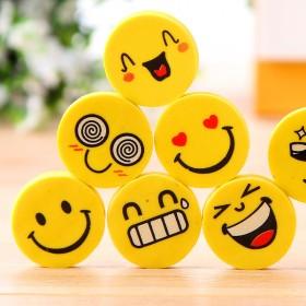 【送3张拼图】32块笑脸橡皮擦儿童学习奖励用品【萌