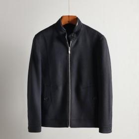 品牌剪标百分百全羊毛呢大衣短外套夹克