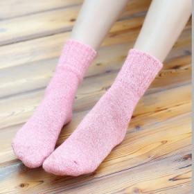 复古女士并线堆堆袜 秋冬季可爱中筒棉袜日系女袜短靴