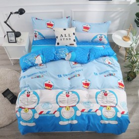 四件套纯棉磨毛床上用品卡通被套床单