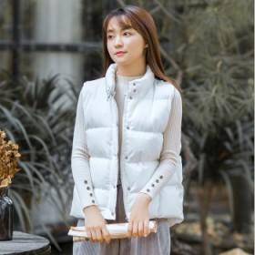 2018秋冬新款羽绒马甲女保暖修身显瘦面包服棉服