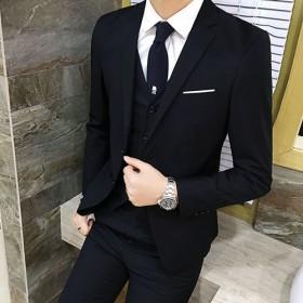 西服套装男士商务修身韩版新郎婚礼服结婚伴郎服正装