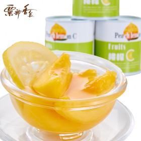 爱斯曼 桃檬C 黄桃柠檬罐头 6罐装