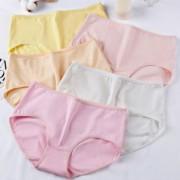 5条棉质面料中低腰女士内裤舒适透气内裤女