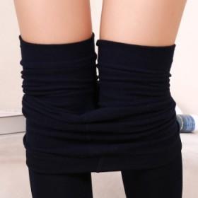 秋季拉绒裤踩脚黑色打底裤加绒薄绒外穿保暖女裤95g
