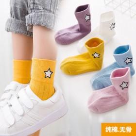 儿童袜子纯棉中筒袜男女童宝宝袜春夏款婴儿秋冬5双装