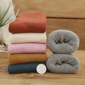 5双加厚纯棉女袜冬季超厚毛圈袜毛巾袜