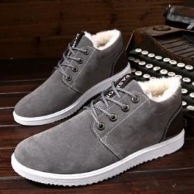 雪地靴男加绒保暖棉鞋冬季新款高帮青年厚款百搭防滑学