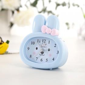 儿童小兔子卡通闹钟 创意可爱懒人闹钟懒虫起床闹钟