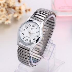 2018创意时尚男士女士钢带手表商务表白领情侣手表