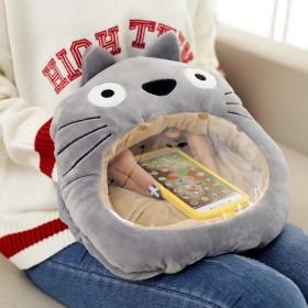 创意透明暖手宝毛绒玩具玩偶可视手暖卡通抱枕玩手机