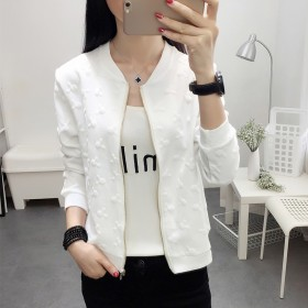 2018春季新款纯色短款小外套韩版时尚提卫衣小夹克