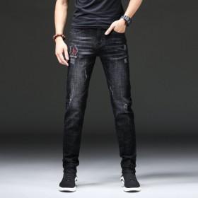 牛仔裤男修身弹力小脚青年韩版潮流学生男士休闲裤