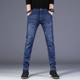 牛仔裤男士休闲小脚裤
