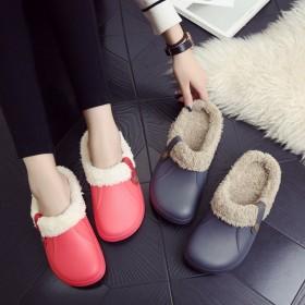 冬季防水保暖棉拖鞋