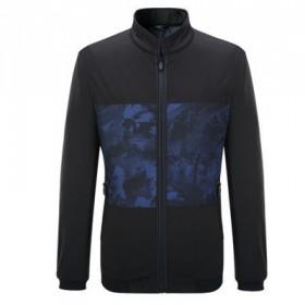 高品质秋季新款夹克男士外套黑色休闲立领品牌男装外衣