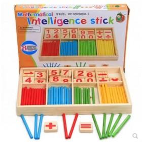 早教玩具数字棒木制数字学习盒算术棒幼儿园数学玩具