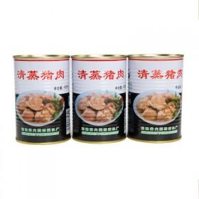 吉林宝达清蒸猪肉罐头自制红烧肉食材425g3罐