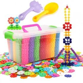 【赠铲子】儿童益智雪花片玩具积木套装大号加厚雪花片