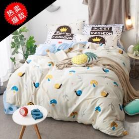 纯棉全棉四件套床单款 1.5米床1.8米床通用