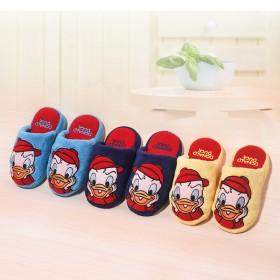 迪斯尼儿童棉拖鞋可爱唐老鸭男女童室内保暖舒适居家冬