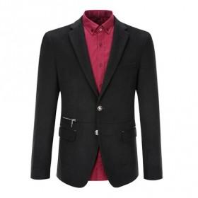 海澜之家品牌男装55%羊毛呢大衣西服西装男士外套潮