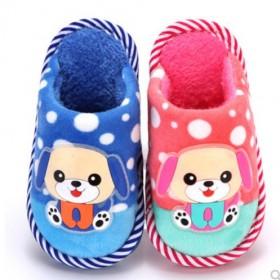 冬季儿童棉拖鞋卡通小孩男童女童防滑宝宝棉鞋大中小童