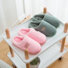 2018新款棉拖鞋秋冬季女情侣室内防滑厚底拖鞋