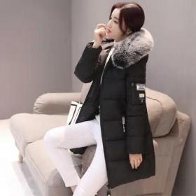 羽绒棉衣女中长款韩版2018冬季新款修身外套上衣